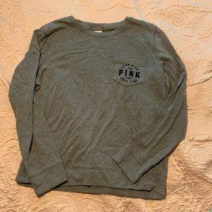 Grey VS Pink Pocketed Sweatshirt